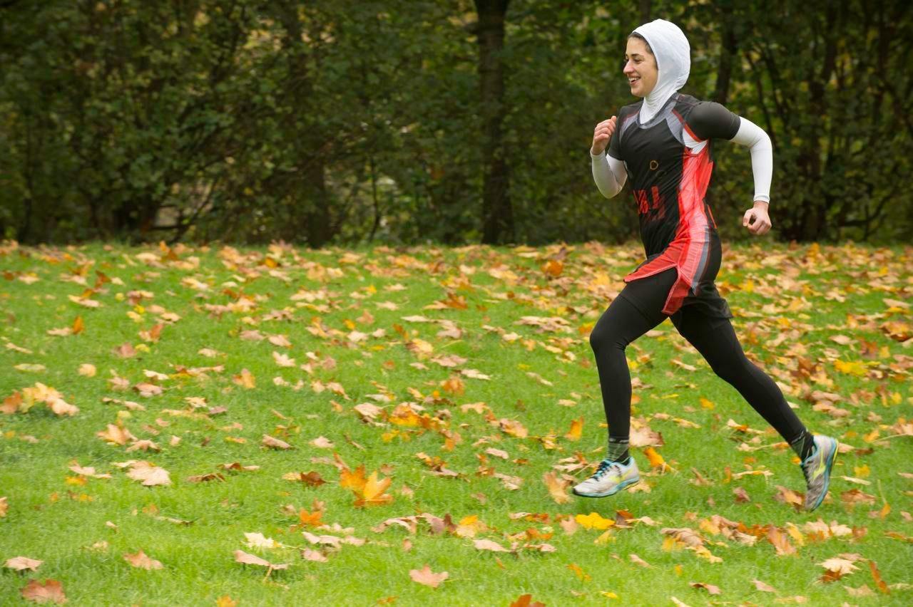 Shirin Gerami in run training