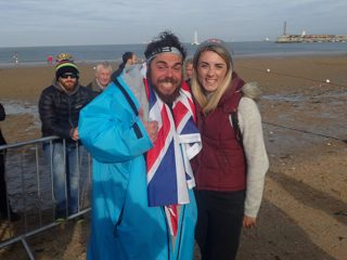 Ross with Ironman pro Lucy Charles. Full interview with Lucy to follow online later this week! Image: 220 Triathlon/Gavin Parish