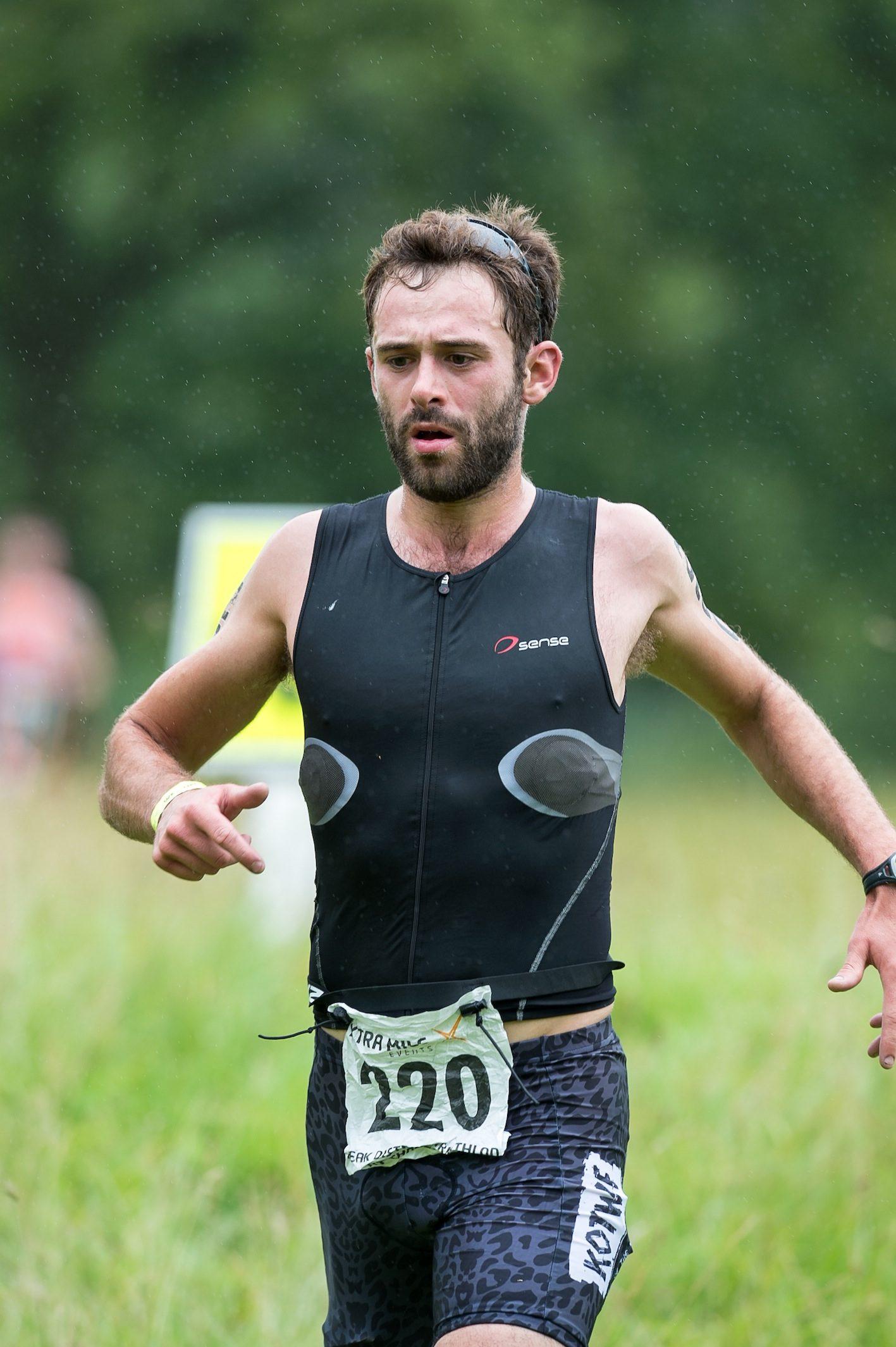 Sam Village racing at Peak District Triathlon