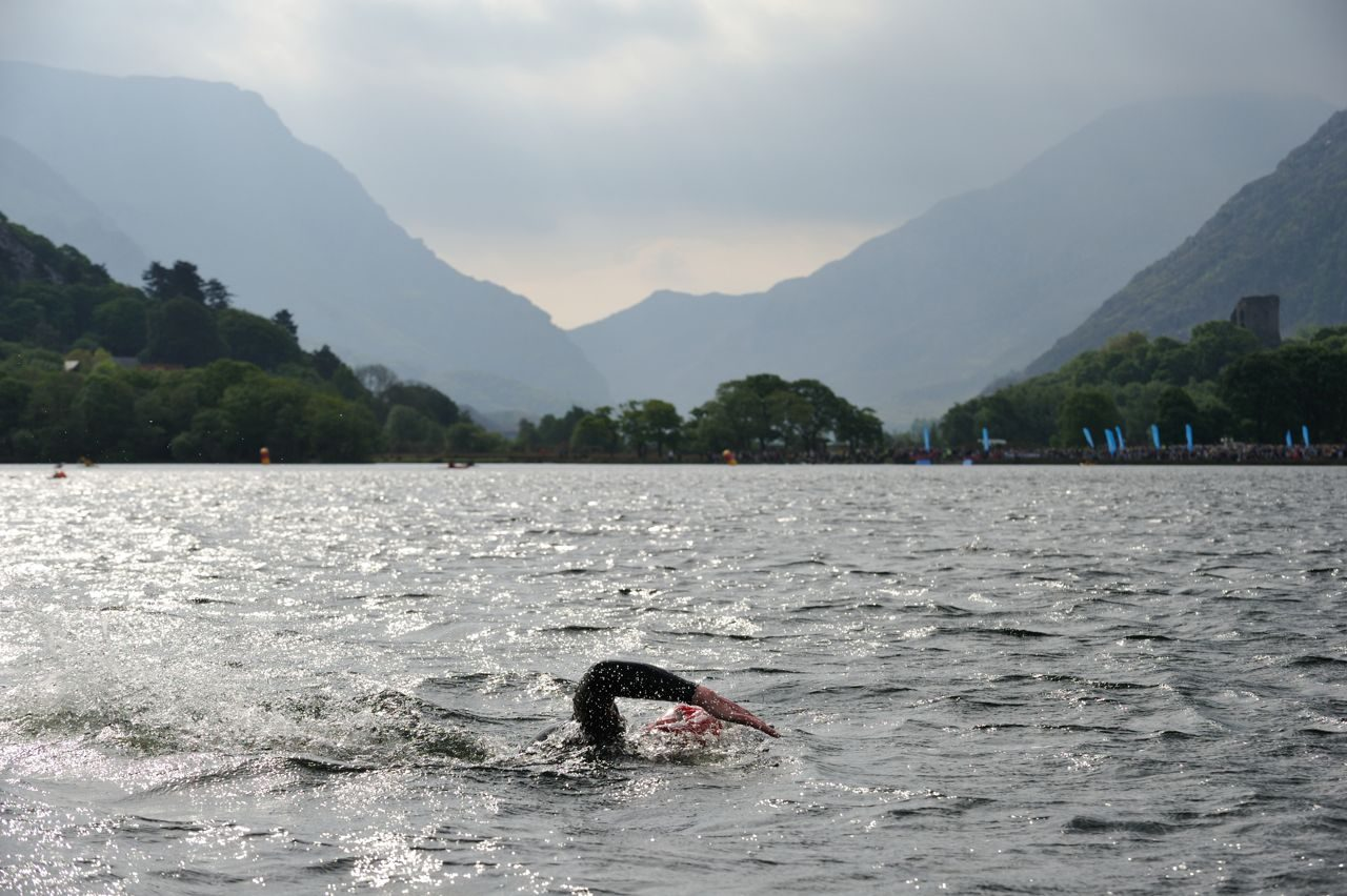 Swimmer in Lake Padarn, Snowdonia