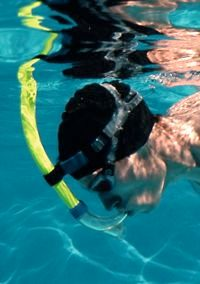 Central snorkel swimming