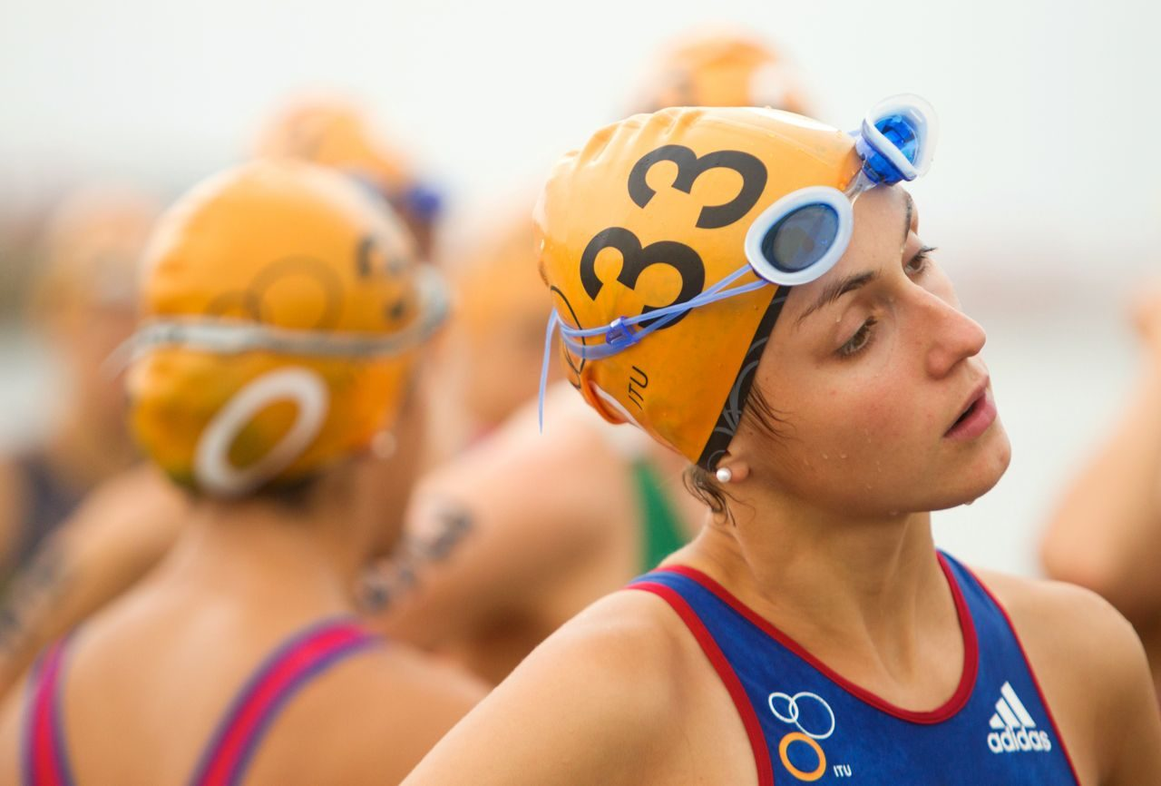 Swimmer at ITU World Cup Cartagena 2014