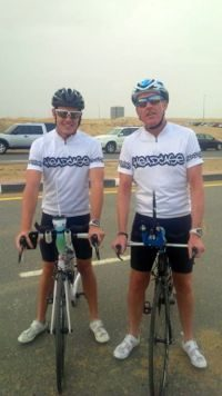 Two members of Team Russell out cycling