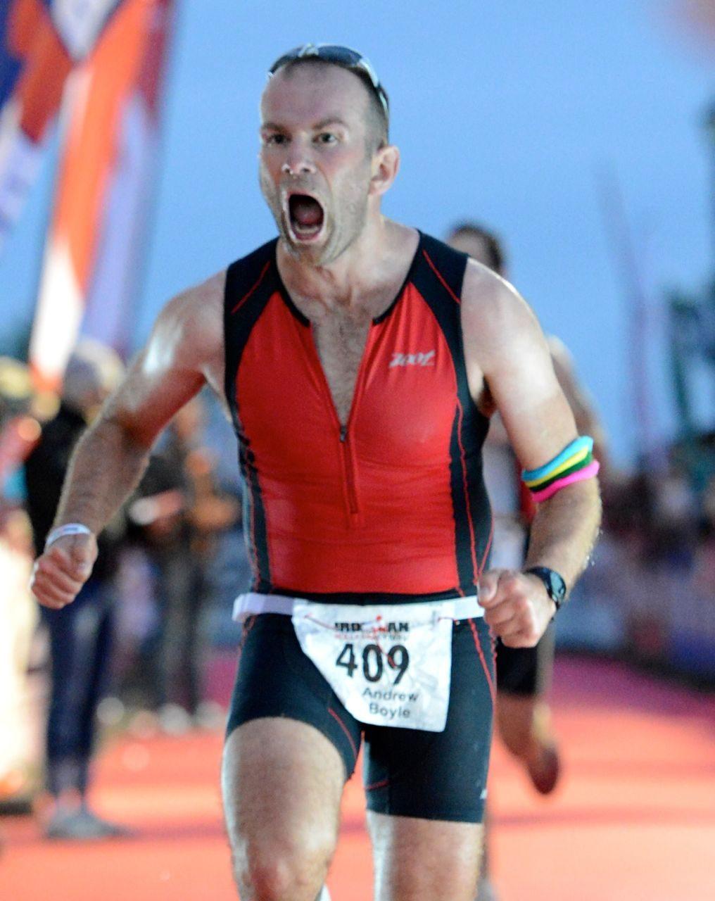 Male triathlete