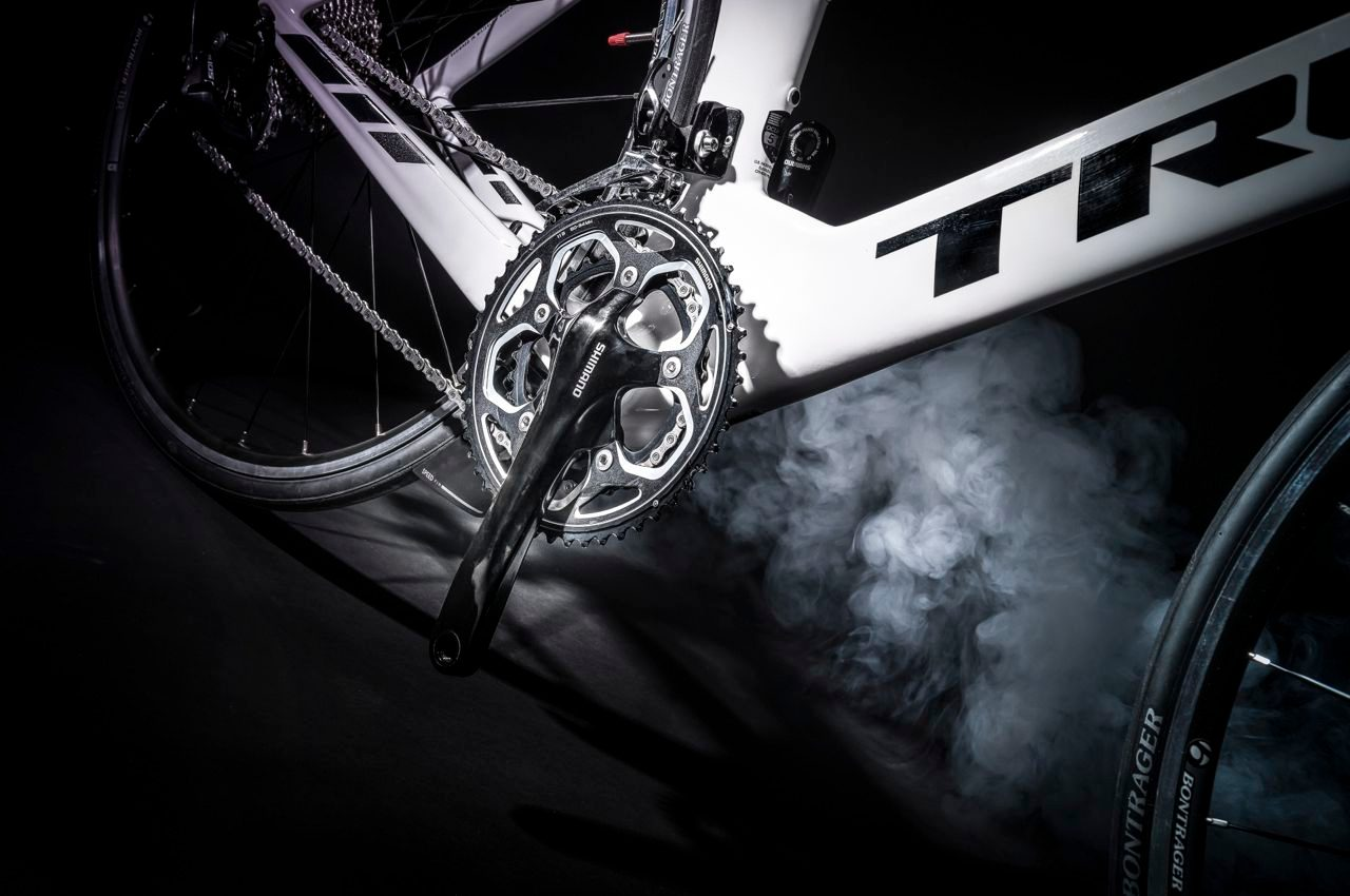 Triathlon bike in profile