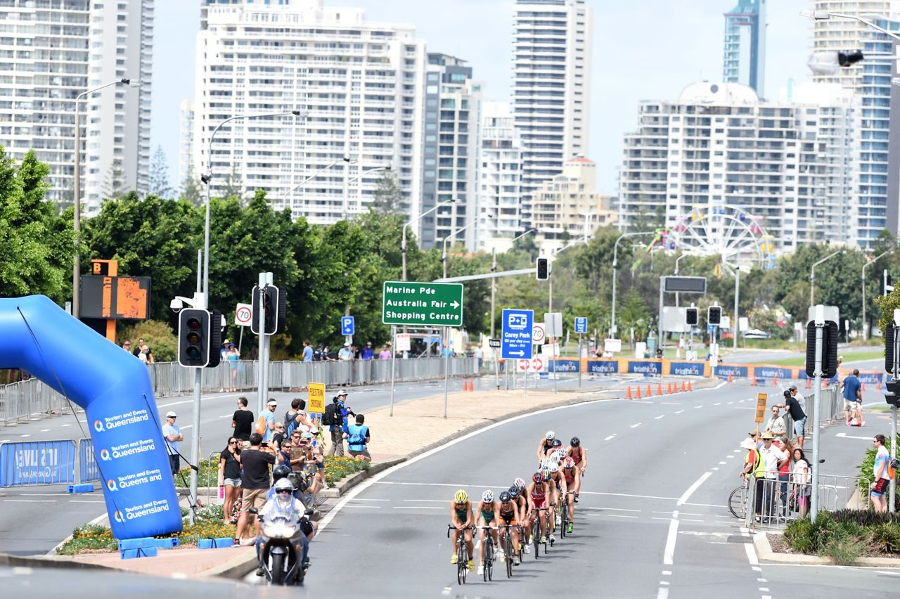 Women on the bike at WTS Gold Coast
