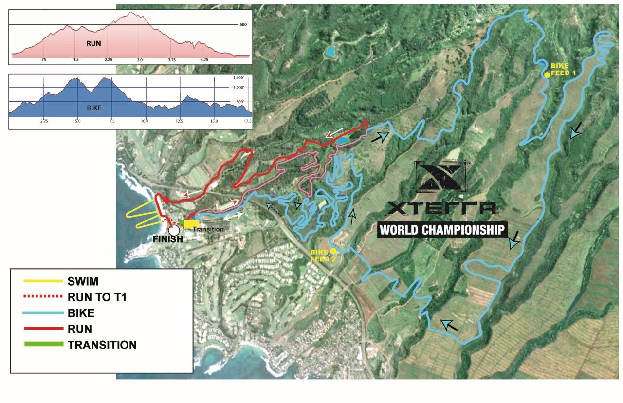 Course map for 2014 Xterra world champs