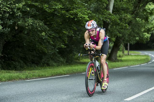 Triathlete racing at The Bastion