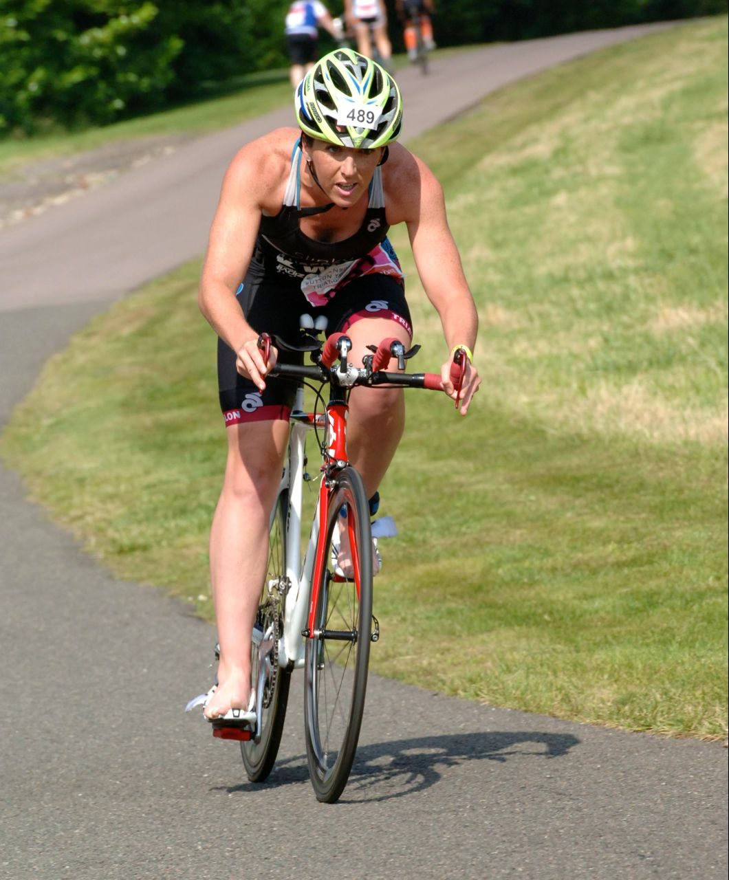 Sam Anderson on the bike course at Jenson Button Trust Triathlon