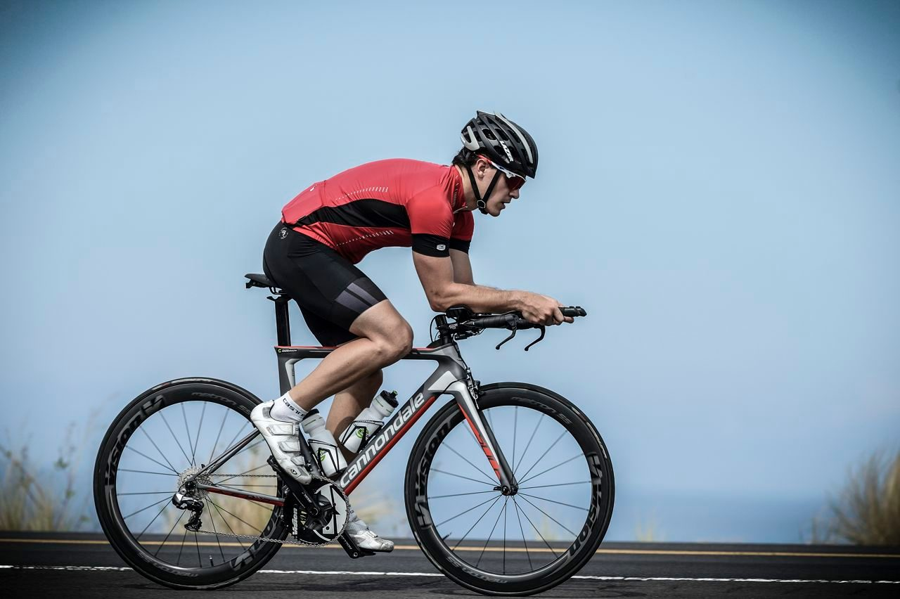 220 rides the Cannondale Slice in Kona