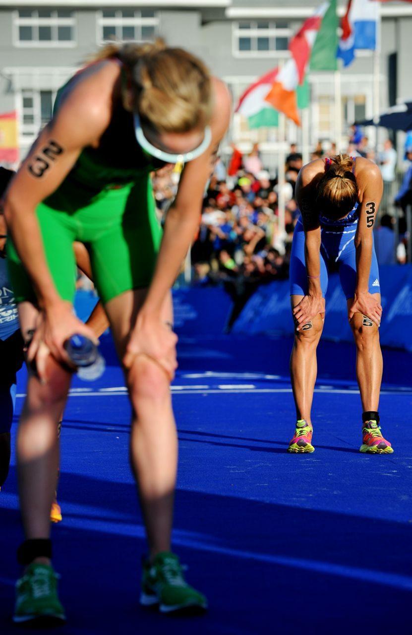 WTS elite triathletes post-race
