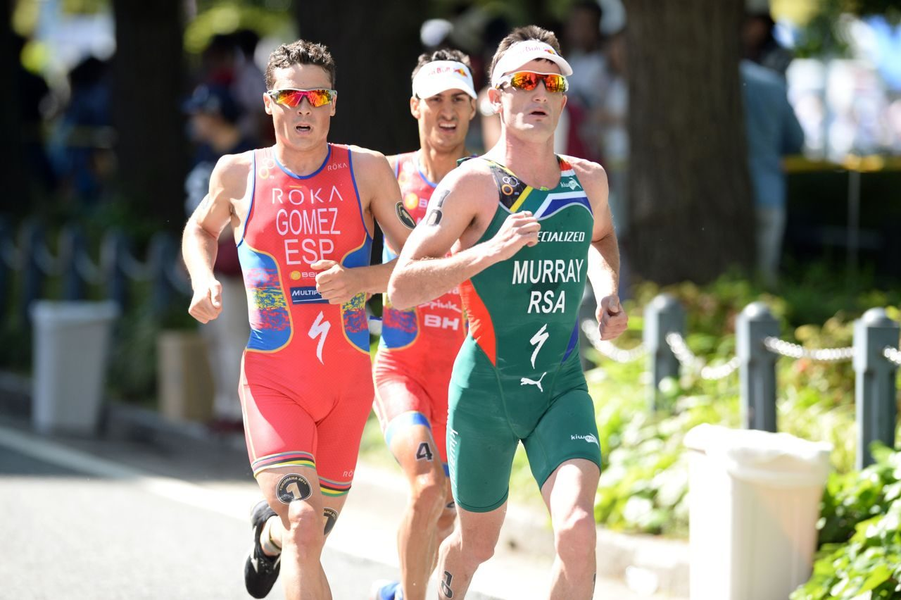 Richard Murray on the run