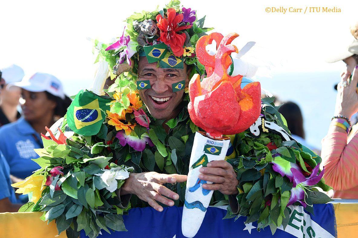 Fan at Rio Olympics triathlon test event