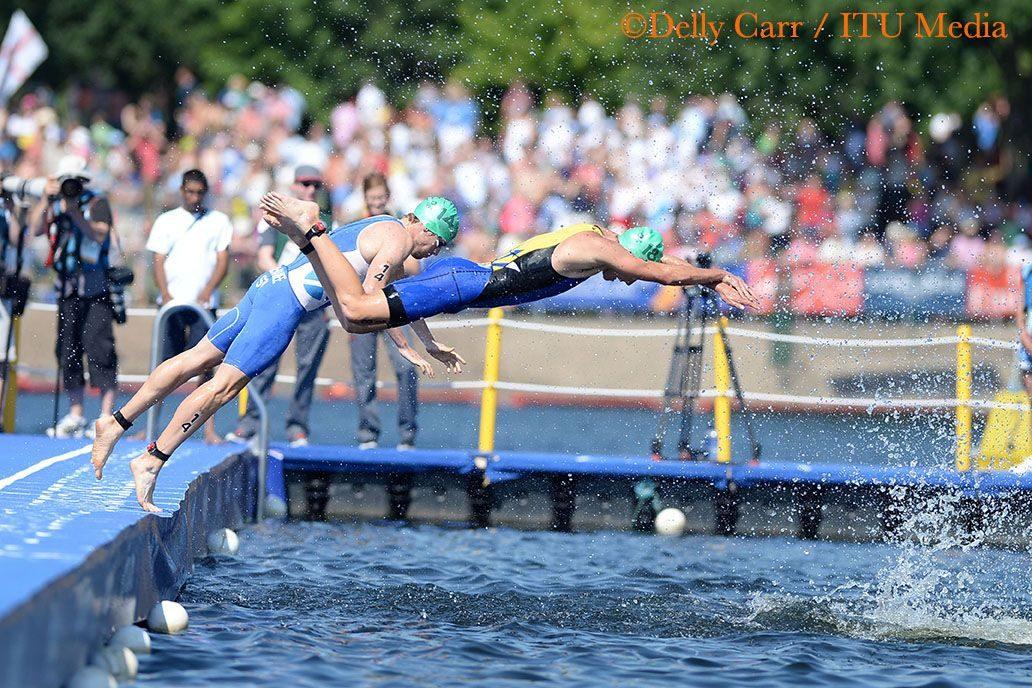 David McNamee racing at the Commonwealth Games 2014