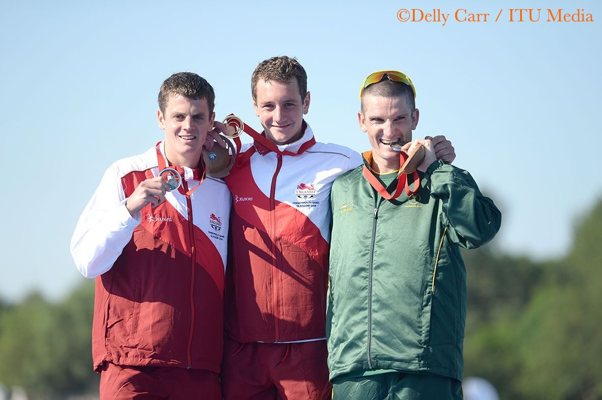 Brownlee brothers and Richard Murray at Glasgow 2014