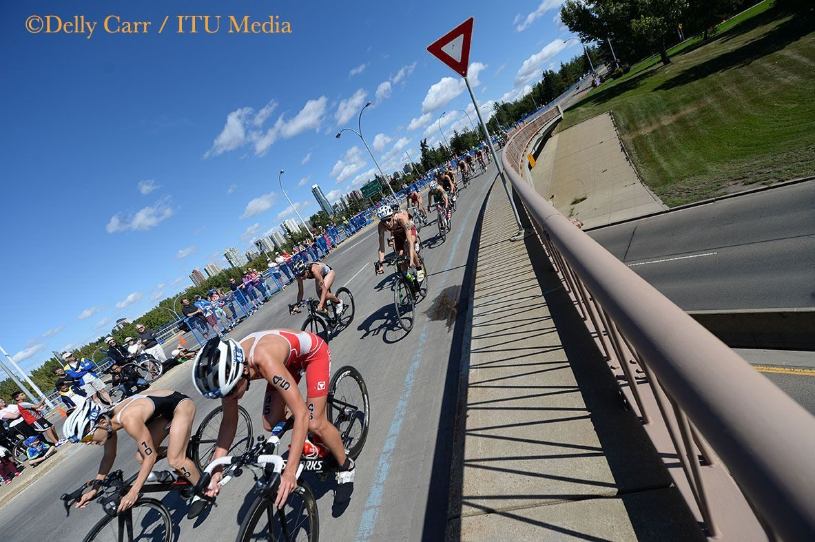 On the bike at WTS Edmonton 2014