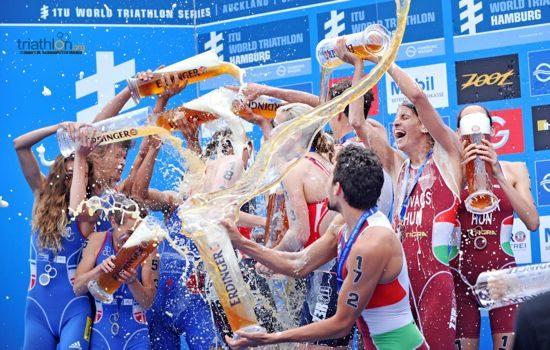 Podium placers at Mixed Relay World Championships 2014