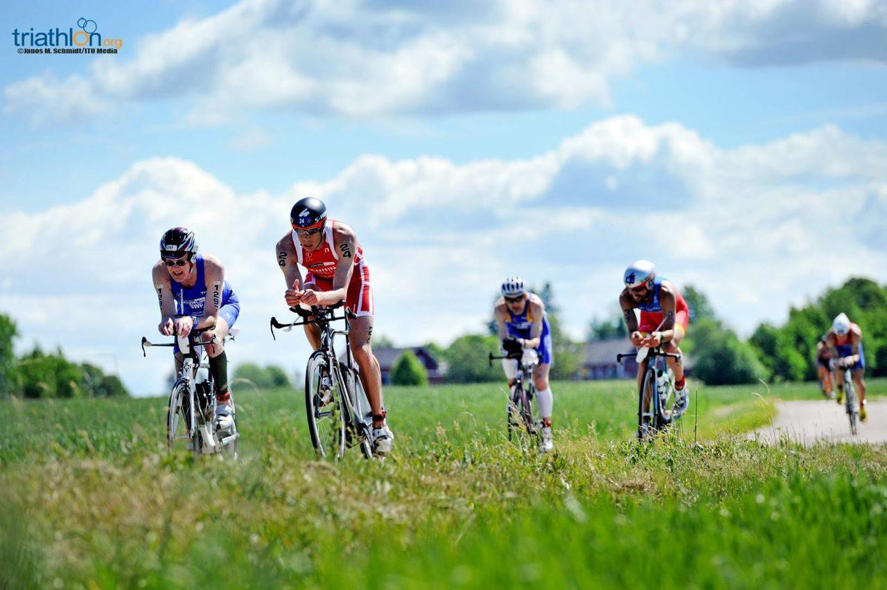 On the bike at ITU Long Distance World Championships
