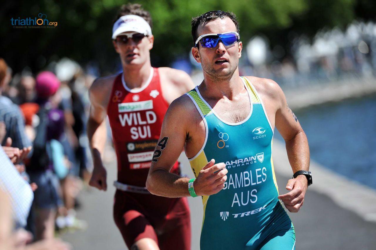 Joe Gambles running at ITU Long Distance World Championships