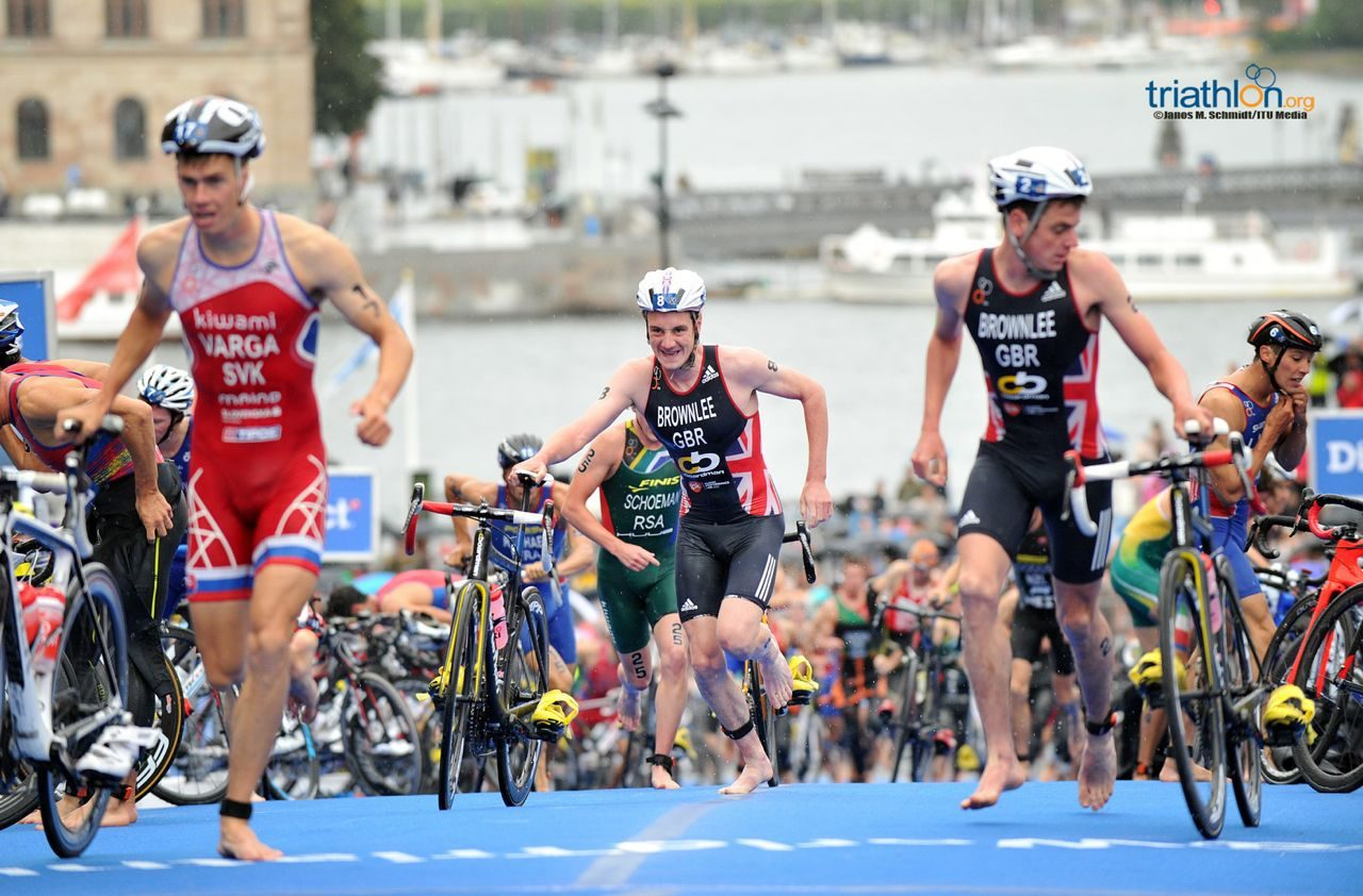 Varga leads the Brownlees out of the water at WTS Stockholm 2014