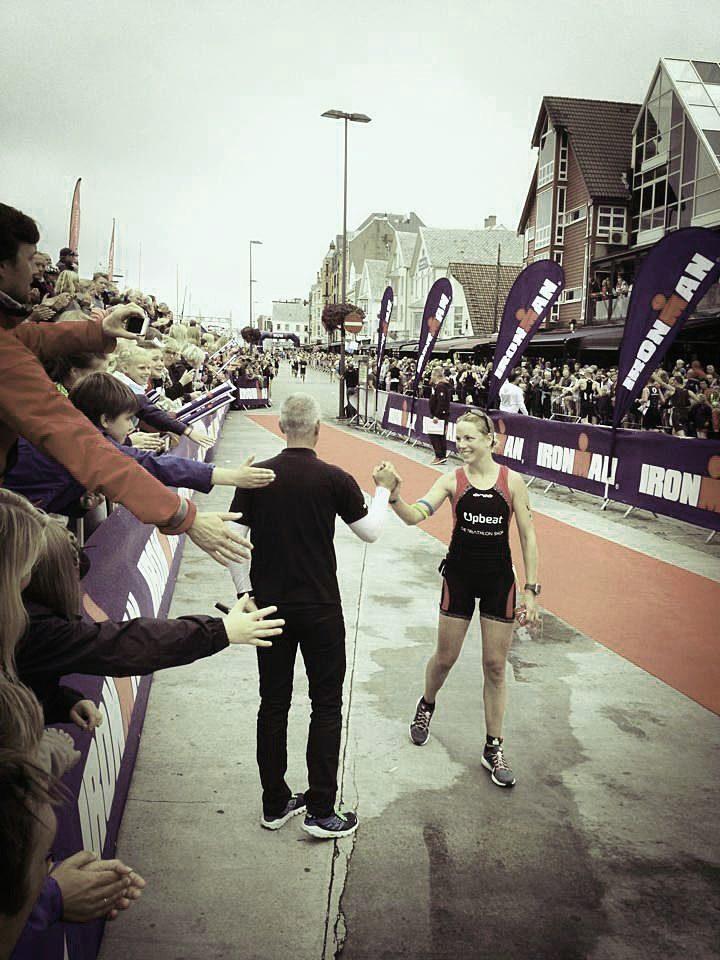 Susie Hignett at the finish line