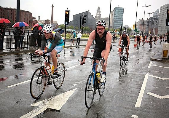 Age-group athletes racing at Tri Liverpool 2014