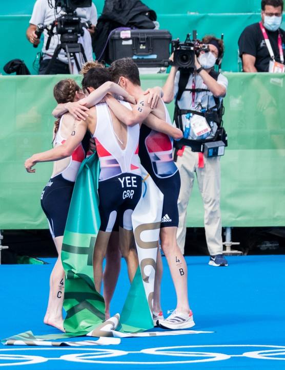 A hug that says it all. What a race