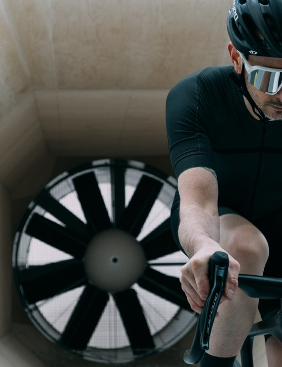 Ribble Ultra Road in the wind tunnel
