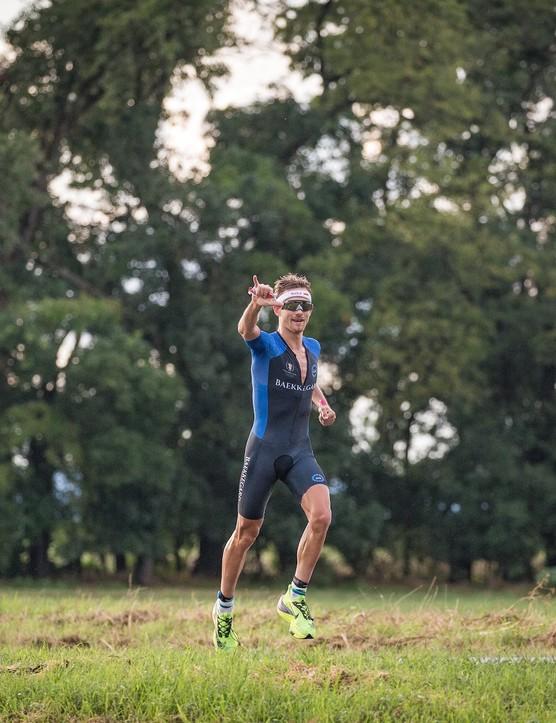 Daniel Baekkegard running at the Collins Cup