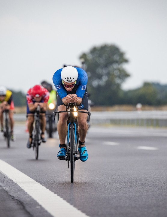 Gustav Iden leads the bike at the Collins Cup