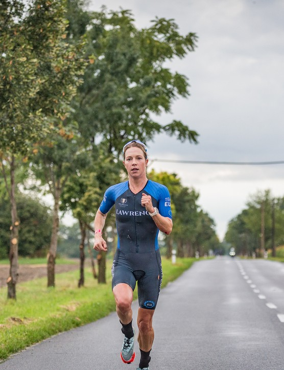Holly Lawrence running at the Collins Cup