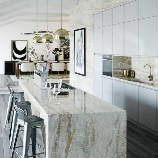 Cosentino mixed-material kitchen