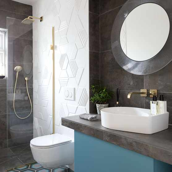 Retro modern Surrey bathroom redesign