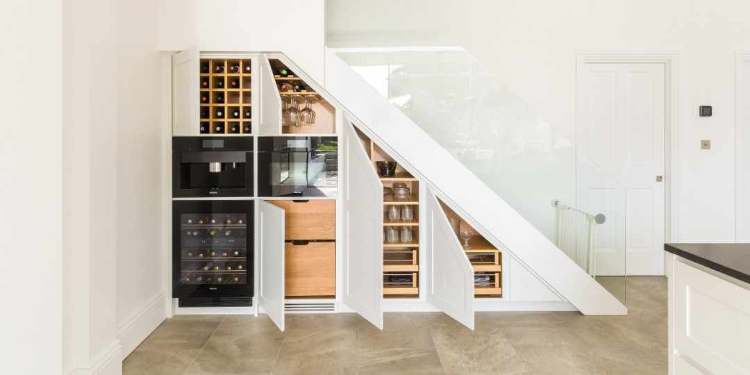 Under stair kitchen storage solution