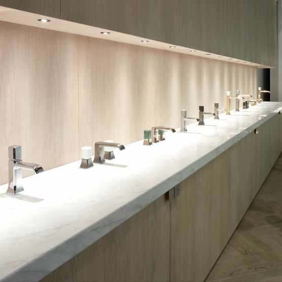 Crosswater brassware on display