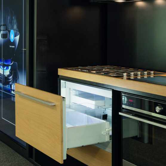 The CoolDrawer has five temperature settings so can be switched between freezer, chill, fridge, pantry and wine modes