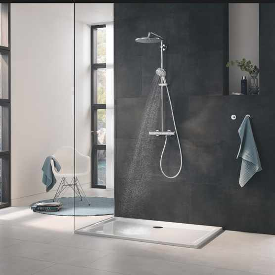 GROHE Rainshower 310 Mono head shower installed