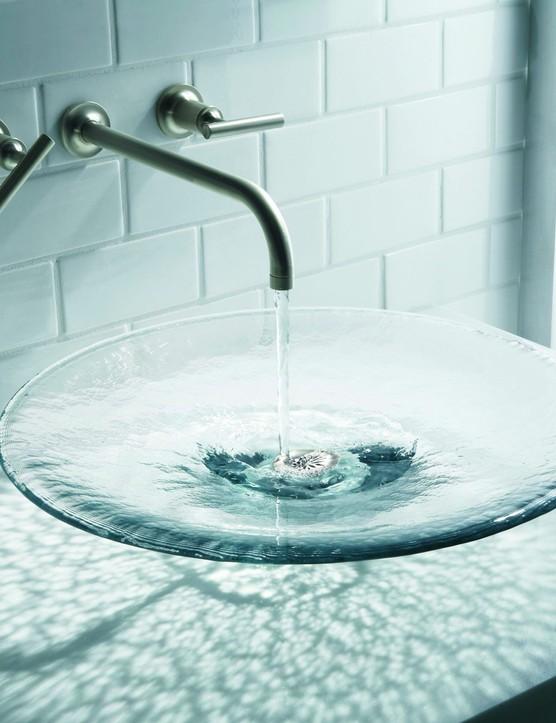 Kohler's Lavinia glass vessel basin