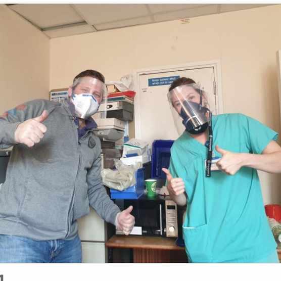 Mr Duffey with nurse