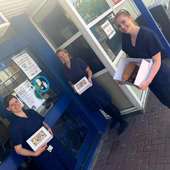 Simon Acres deliver cakes to NHS