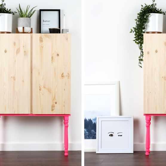 Neon pop cabinet