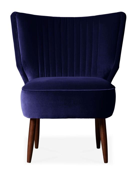 Swoon Duke Cocktail Chair in Indigo