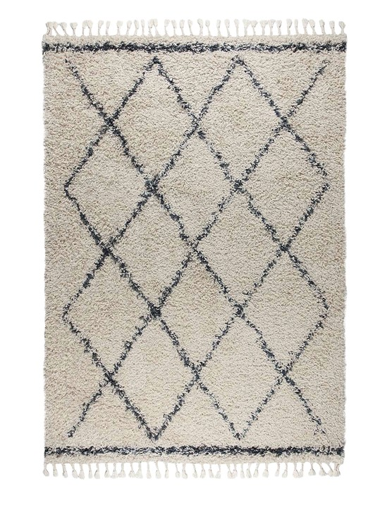 Berber shaggy rug, from £29, Dunelm