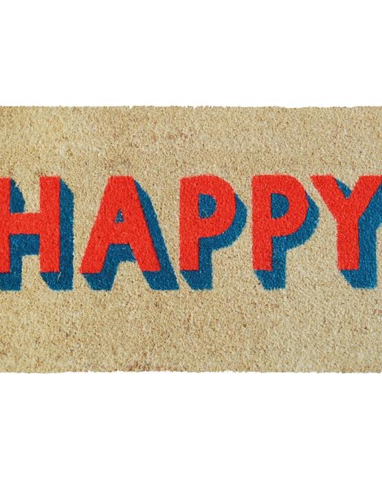 Happy block letters door mat, £19.50, Bombay Duck