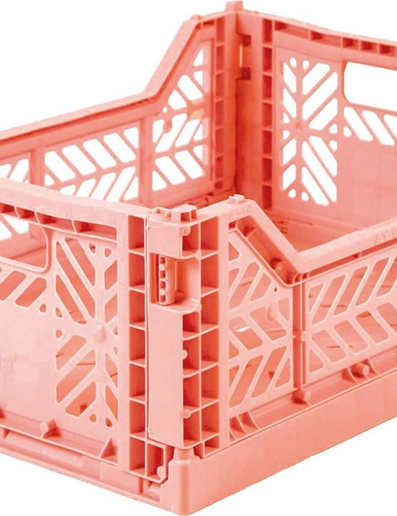 Folding storage crate in Salmon Pink, £12.50, Bobby Rabbit