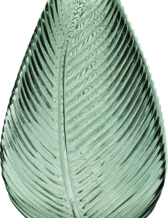 Green leaf impression glass vase, £14.95, Hurn & Hurn