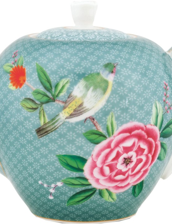Bright blooms and a colourful bird motif offer an exotic twist on the classic floral teapot. £32 from Daisy Park