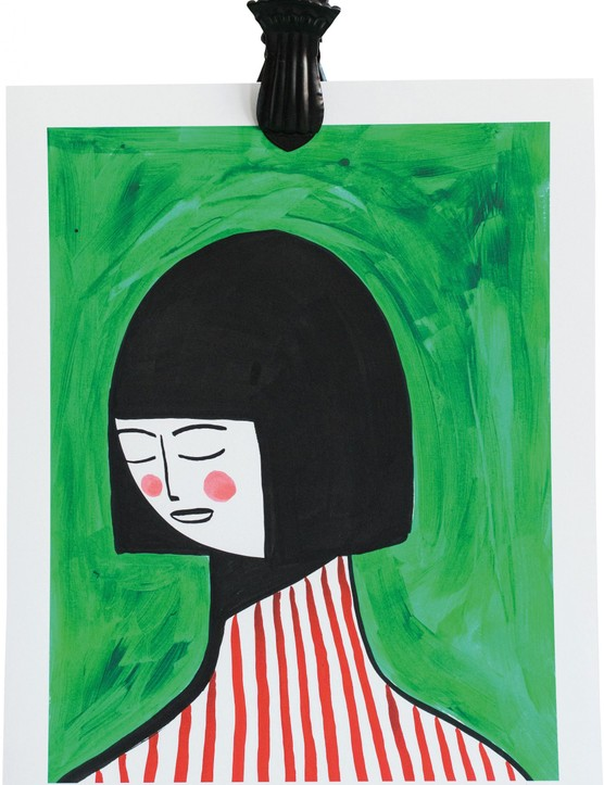 Girl in Red Stripes print, £45, Margo in Margate for Rose & Grey