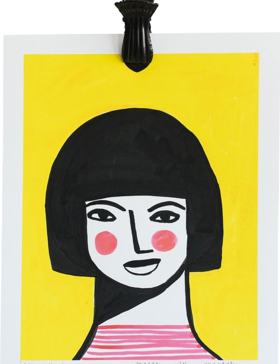 Girl on Yellow print, £45, Margo in Margate for Rose & Grey