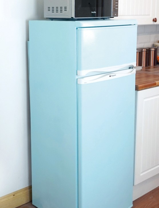 Pastel fridge after